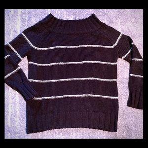 Billabong Sweaters - BILLABONG off shoulder Black Stripe Sweater LKN